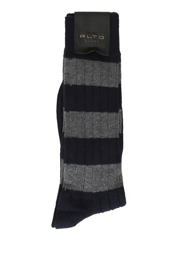 Alto Socks Alto Socks   Ribli Erkek Çorap 101560334 Lacivert